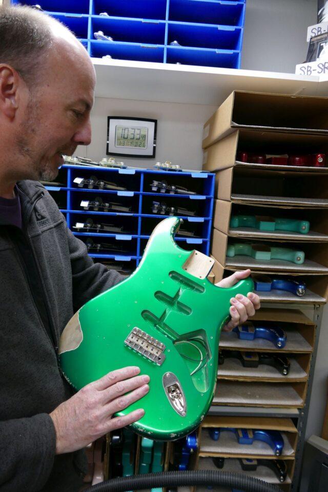 Korpus gitary XSC w wersji postarzenia medium.