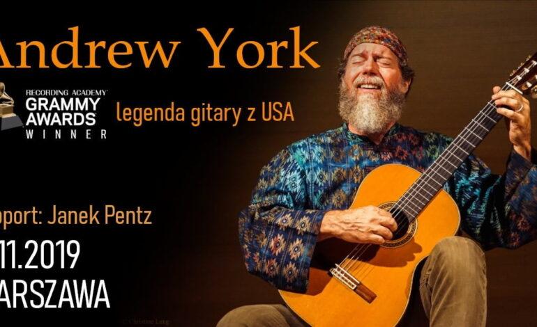 Zdobywca Grammy, Andrew York zagra w Warszawie