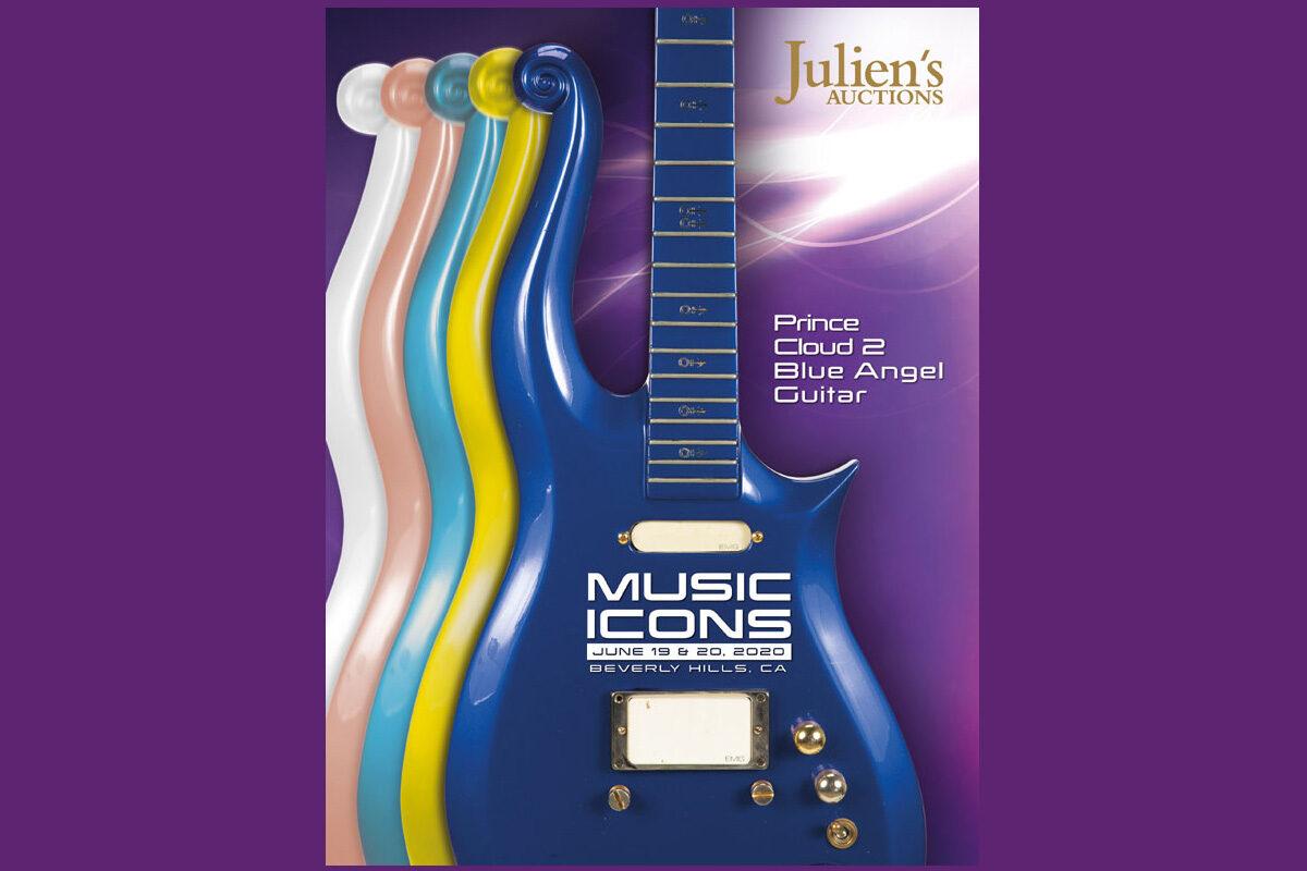 "Gitara Prince'a Cloud 2 ""Blue Angel"" do kupienia na aukcji"