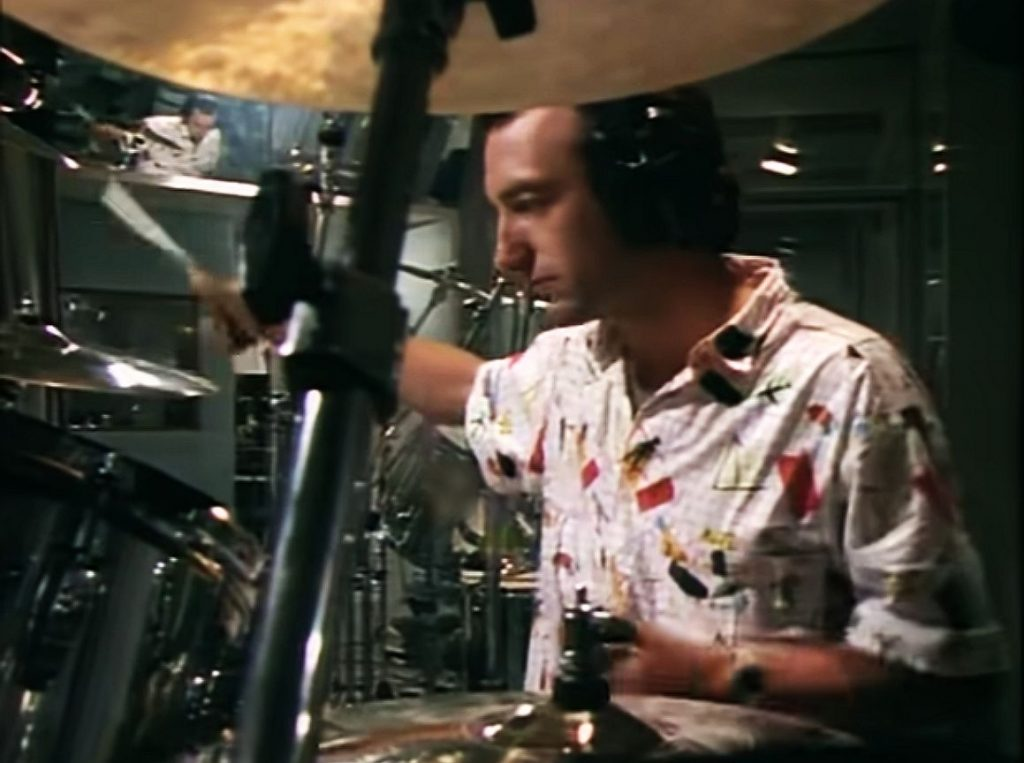 John Deacon na perkusji, fot. YouTube