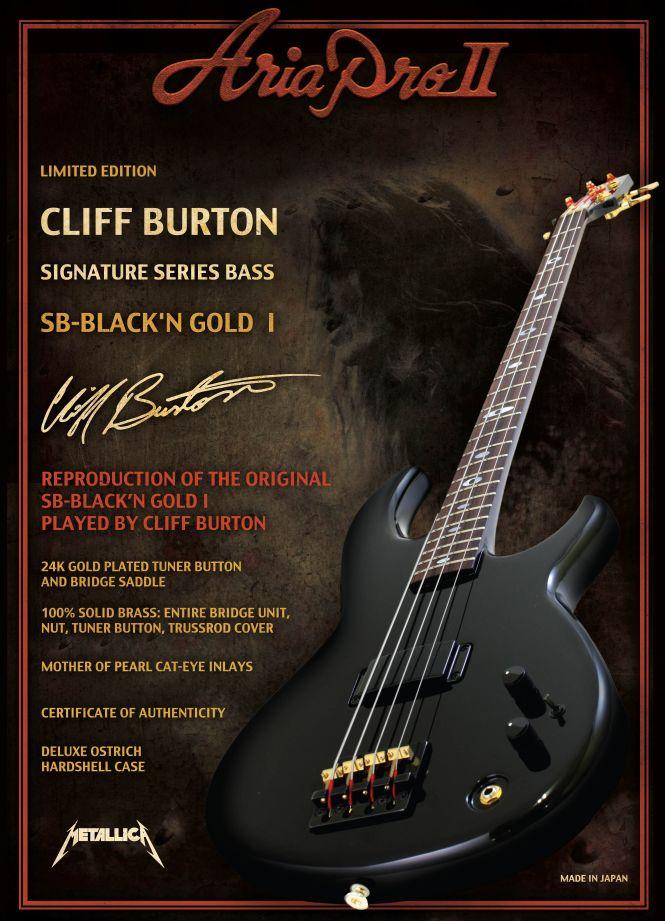 Aria Pro II Cliff Burton Signature