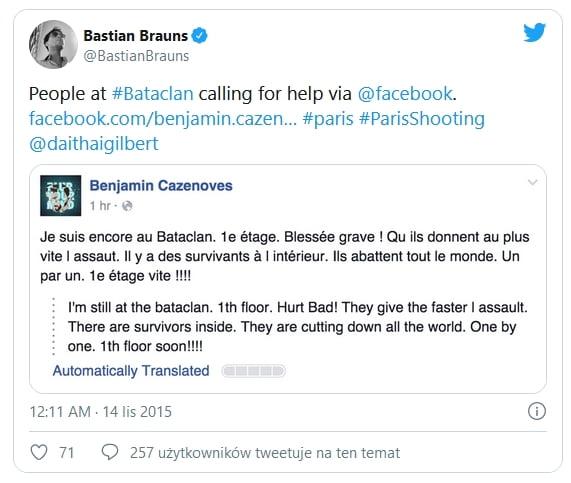 Bataclan hostage