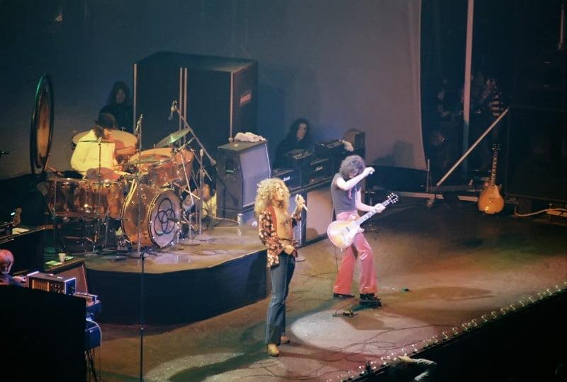 Led Zeppelin Chicago 1975, fot. Wikipedia na licencji CC