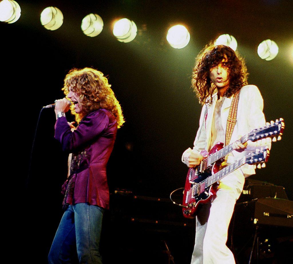 Led Zeppelin Chicago 1977 fot. Wikipedia na licencji CC