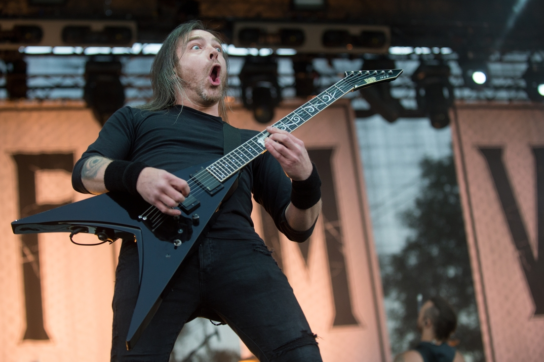 Michael Paget z Bullet For My Valentine i jego sygnatury ESP