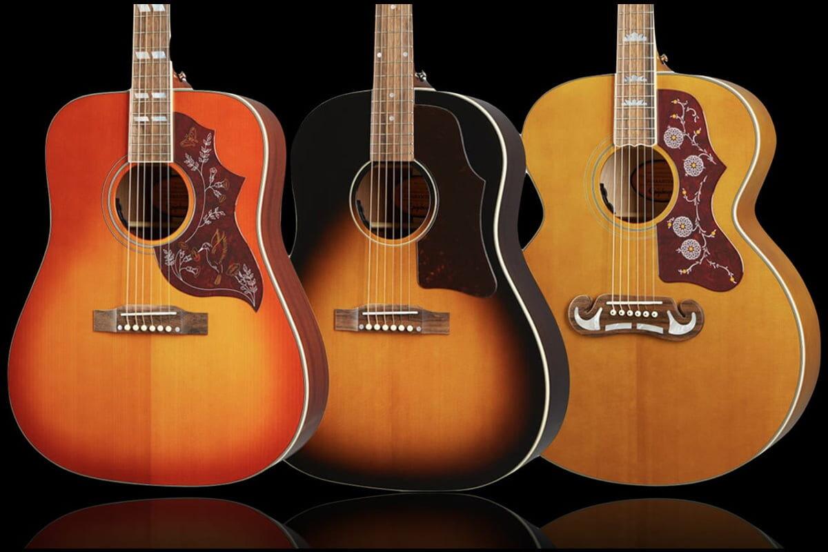 Epiphone Inspired By Gibson Hummingbird, J-45 i J-200