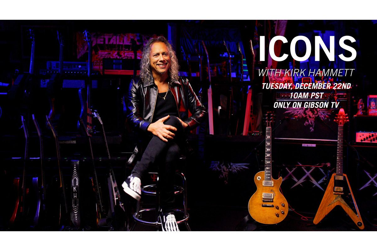 "Kirk Hammett gościem cyklu ""Icons"" w Gibson TV"