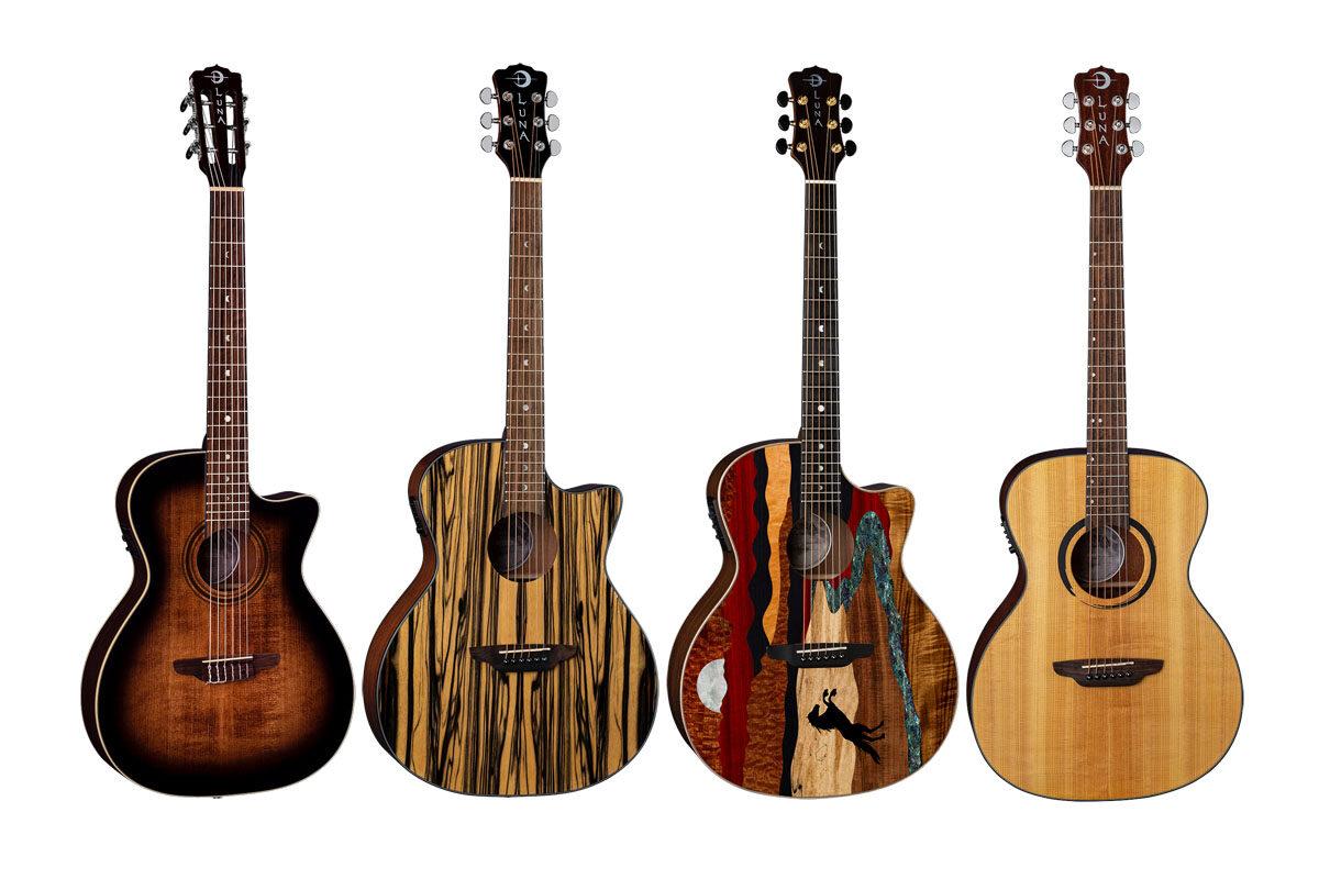 Cztery nowe gitary marki Luna Guitars