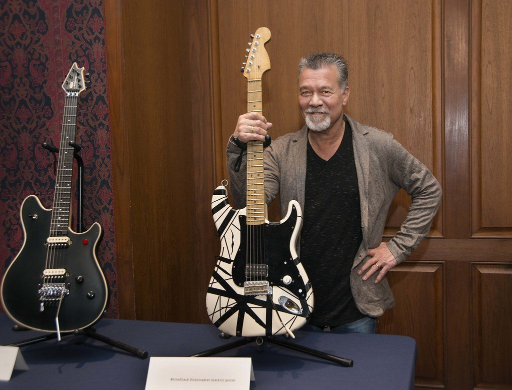 Guitar legend Eddie Van Halen at the National Museum of American History, fot. by national museum of american history na licencji CC BY-NC 2.0