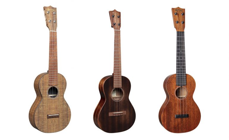 Trzy nowe modele ukulele firmy C. F. Martin & Co.
