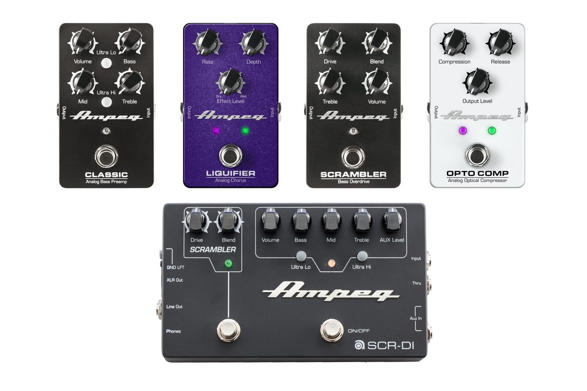 Przegląd efektów basowych marki Ampeg