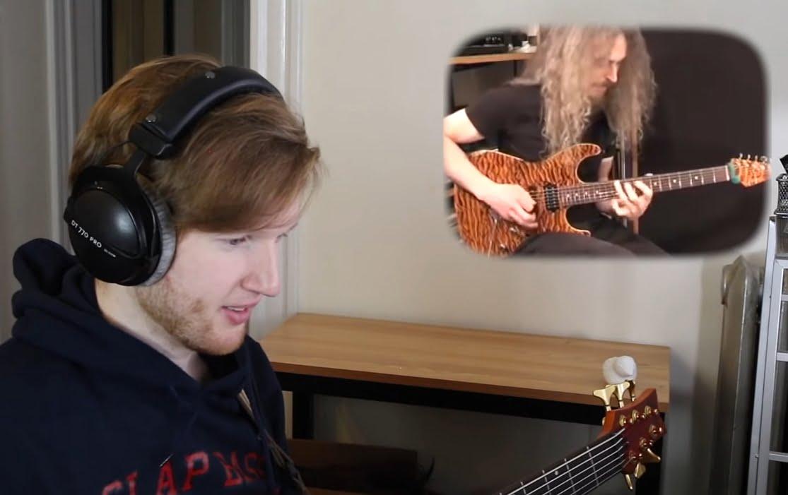 Młody basista gra solówki Govana i Petrucciego!